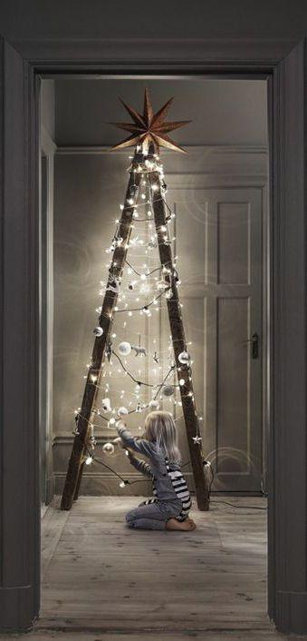 Idei alternative pentru bradul de Crăciun, sursa foto: Pinterest - revistamargot.ro