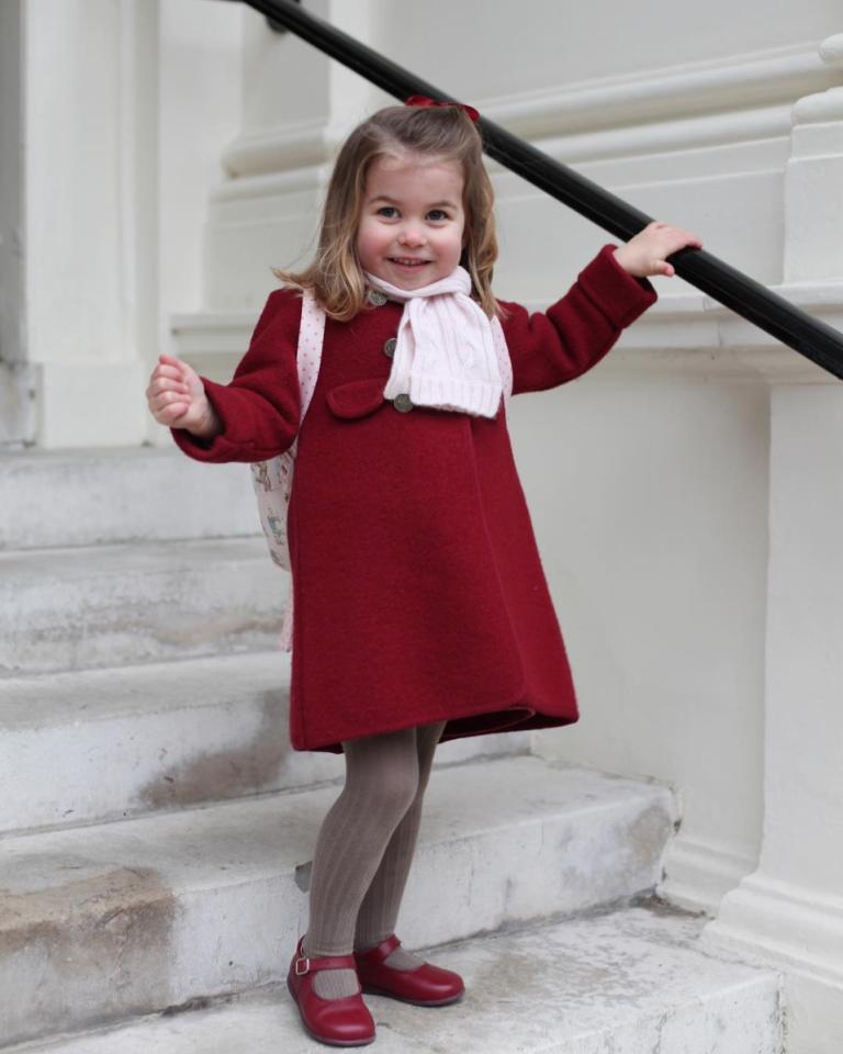 Prima zi la grădiniță a prințesei Charlotte - revista Margot.ro