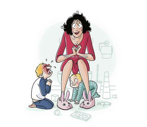 Ilustrații oneste despre cum e să fii mamă - RevistaMargot.ro