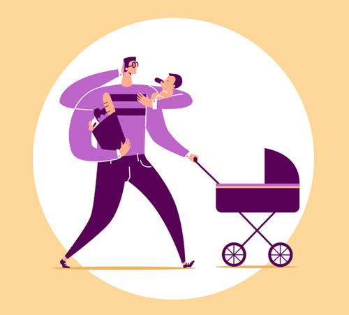Şi tatăl poate suferi de depresie postnatală - RevistaMargot.ro