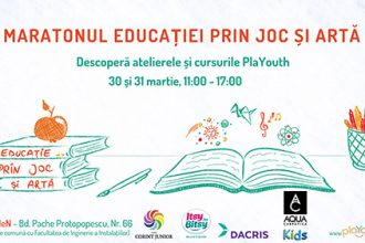 PlaYouth - Maratonul Educației prin Joc și Artă - 30-31 martie - RevistaMargot.ro