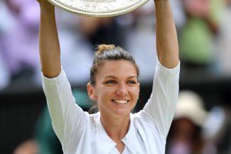 Simona Halep câștigătoare la Wimbledon
