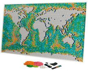 Noua Hartă a Lumii LEGO Art